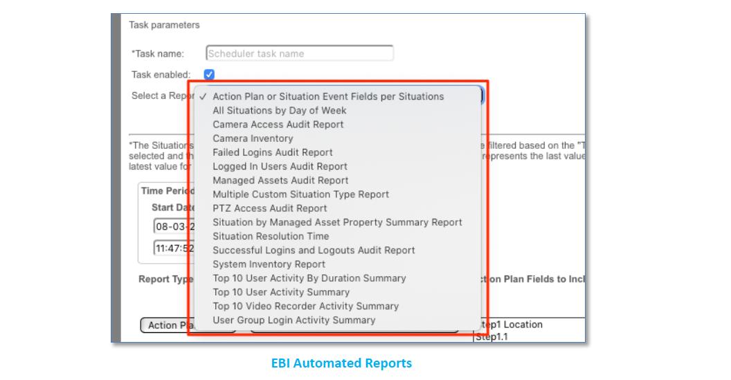 Vidsys Enterprise 2020R2 - EBI auto reporting