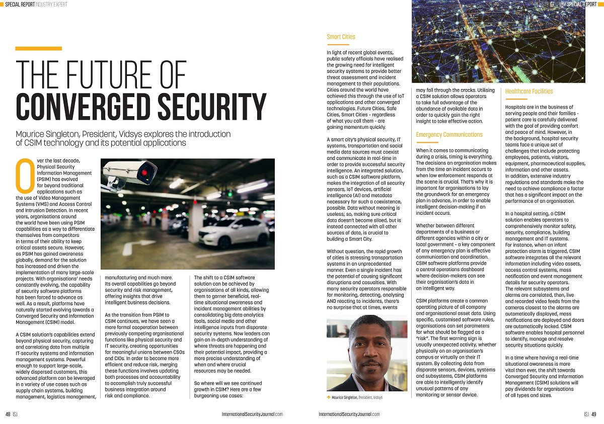 Article: The Future of Converged Security