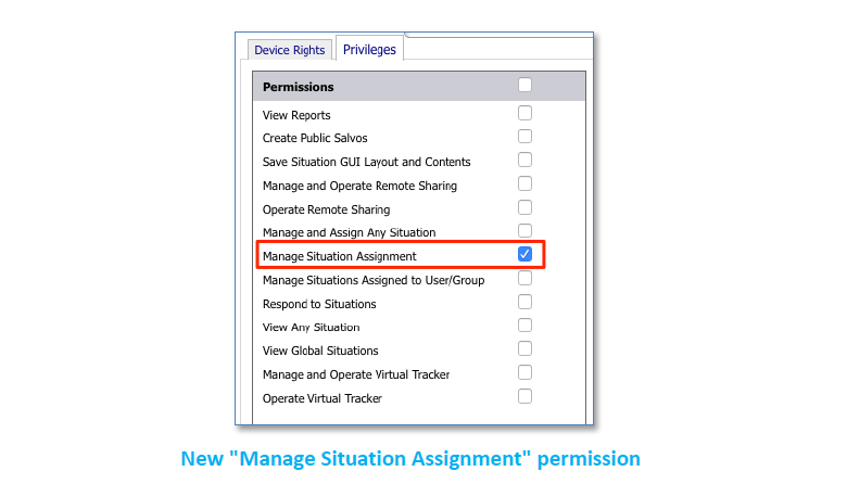 Vidsys Enterprise 2020R2 - manage situation assign